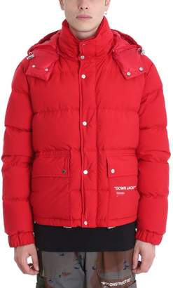 Off-White Red Poliester Down Jacket
