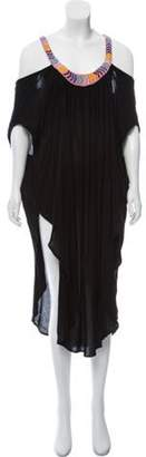 Mara Hoffman Sleeveless Midi Dress Black Sleeveless Midi Dress