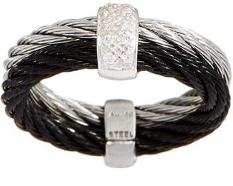 Alor Cable Stainless Steel & Diamond Two-Tone Ring