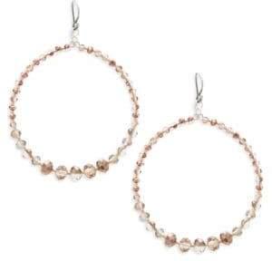 Chan Luu Beaded Sterling Silver Hoop Earrings