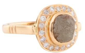 Ring 18K Rough Diamond Cocktail