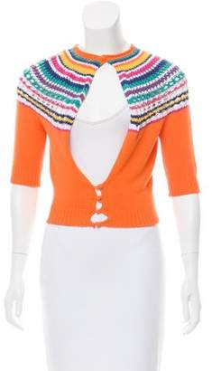DSQUARED2 Stripe-Accented Cropped Sweater