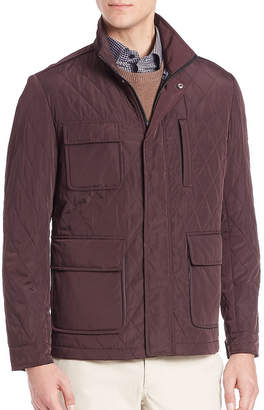 Saks Fifth Avenue Stand Collar Quilted Jacket