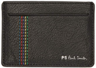 Paul Smith Black Stripe Stitch Card Holder