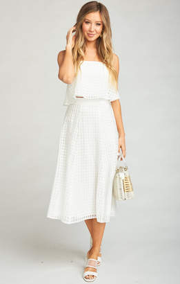 Show Me Your Mumu Fountain Midi Skirt ~ Charmed and Checkered Ivory