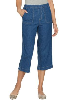 Denim & Co. Studio by Stretch Denim Wide Leg Gaucho Pants