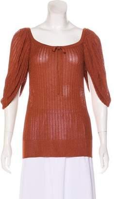 Chloé Knit Short Sleeve Top