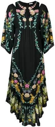 Vilshenko asymmetric hem floral dress