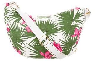 Celine Floral Canvas Shoulder Bag