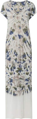 Raquel Allegra Tie-dyed Cotton-blend Jersey Maxi Dress - Gray