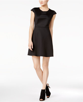 Bar Iii Short-Sleeve Fit & Flare Dress, Created for Macy's $79.50 thestylecure.com