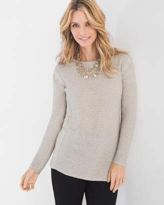 Chico's Chicos Shine Cable-Detail Pullover