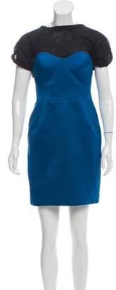 Proenza Schouler Strapless Mini Dress Blue Strapless Mini Dress