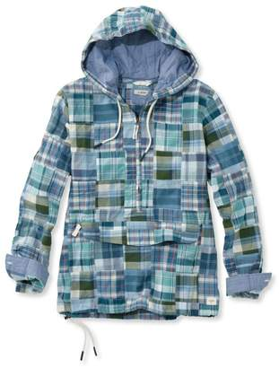 L.L. Bean L.L.Bean Vacationland Anorak Pullover, Patchwork Long-Sleeve