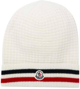 Moncler striped knit beanie