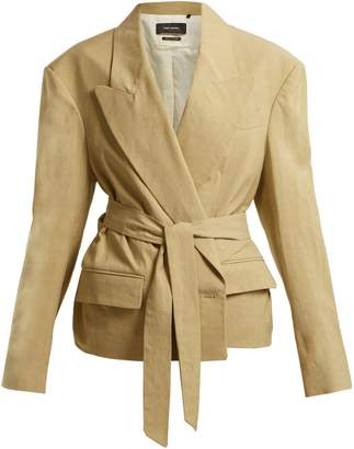Isabel Marant Riller peak-lapel linen-blend jacket