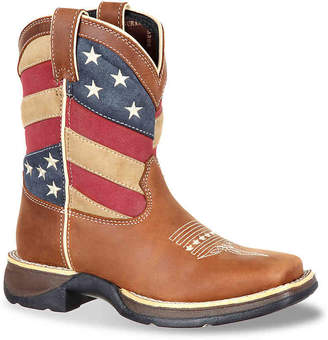 Durango Patriotic Flag Toddler & Youth Cowboy Boot - Boy's