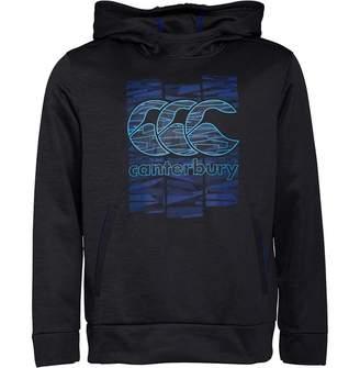 c828661f211 Canterbury of New Zealand Mens CCC Logo VapoDri Poly Fleece Hoody Vanta  Black Marl