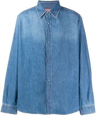 Acne Studios quilted denim over shirt