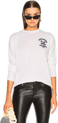 Adaptation Cashmere Invitation Only Sweater in White & Black | FWRD