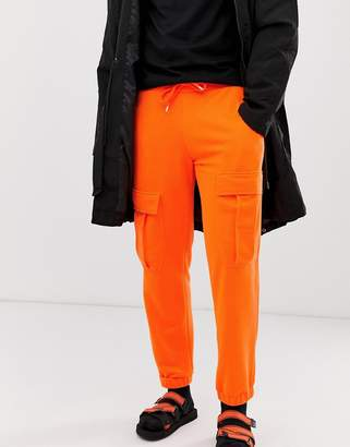 Asos Design DESIGN cargo jogger in neon orange