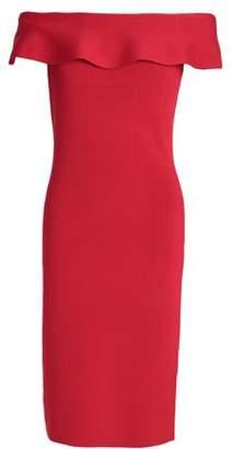 Elie Tahari Off-The-Shoulder Knitted Dress