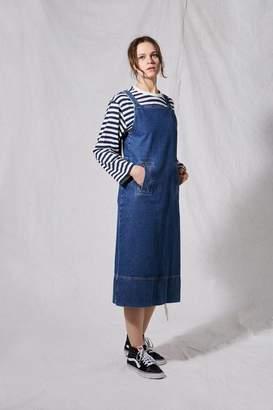 Topshop **Denim Pinafore Dress by Boutique