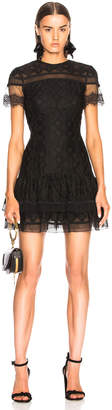 Jonathan Simkhai Threaded Mesh Mini Ruffle Dress