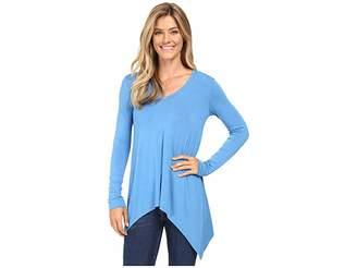 Karen Kane V-Neck Handkerchief Tunic Women's Blouse