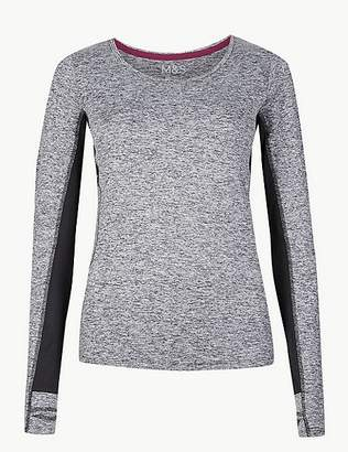 Marks and Spencer Jaspe Quick Dry Long Sleeve Top