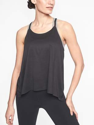 Athleta Chi Shadow Stripe Strappy Tank