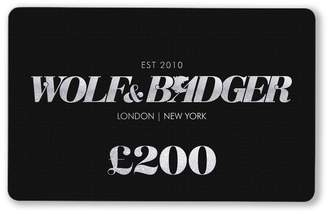 Wolf & Badger Gift Card £200