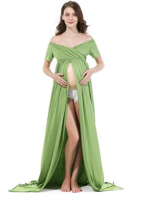 Thrivingtech Maternity Off Shoulder Photo Shoot Skirts, Pregnant Women Photography Props