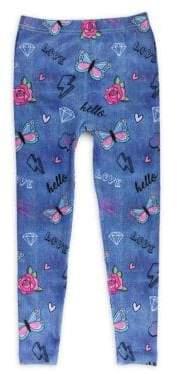 Girl's Doodle-Print Leggings