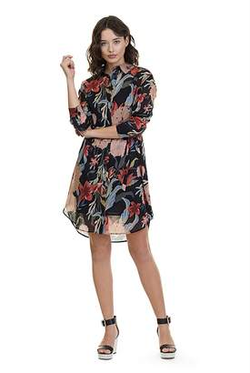 Country Road Floral Shirt Dress