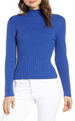 Chelsea28 Ribbed Mock Neck Pullover