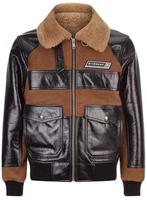 Givenchy Sheepskin Leather Bomber Jacket