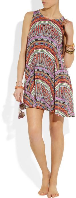 Mara Hoffman Rainbow printed stretch-jersey tank dress