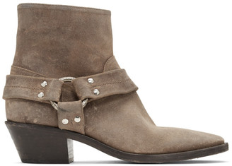 Golden Goose Taupe Bretagne Boots