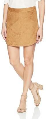 BB Dakota Junior's Annette Faux Suede Skirt