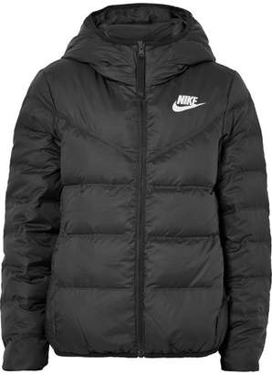 Nike Reversible Hooded Quilted Shell Down Jacket - Black