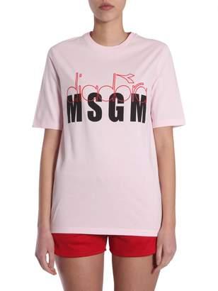 MSGM Diadora Co-lab T-shirt