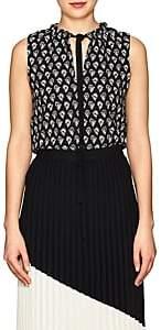 Proenza Schouler Women's Floral Tie-Front Blouse - Black, White