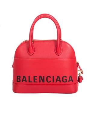 Balenciaga Ville Logo-print Leather Tote