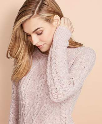 Brooks Brothers Cable-Knit Alpaca-Wool-Blend Sweater