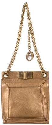 Lanvin Leather Chain-Link Crossbody
