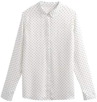 e8f16d34aea La Redoute COLLECTIONS Long-Sleeved Polka Dot Print Shirt
