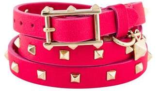 Valentino Stud Wrap Around Leather Bracelet