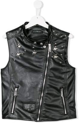 John Richmond Junior TEEN faux leather embellished waistcoat