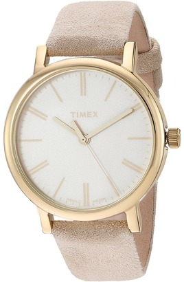 Timex Originals Tonal Leather Strap Watch $75 thestylecure.com